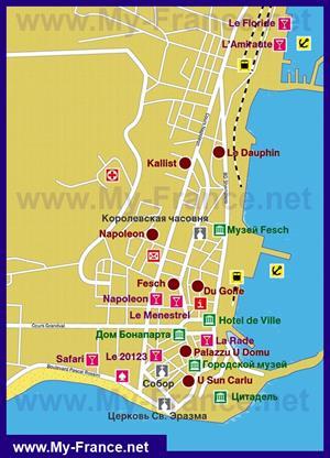 Карта отелей Аяччо