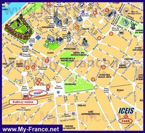 Туристическая карта Анже с достопримечательностями