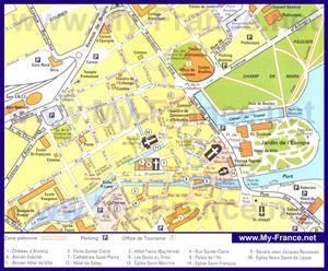 Туристическая карта Анси с достопримечательностями