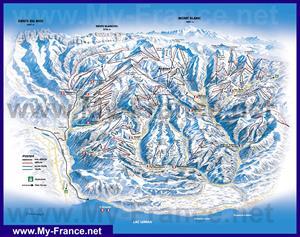 Подробная карта горнолыжных трасс курорта Авориаз