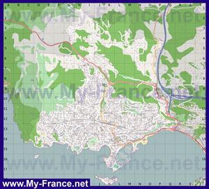 Подробная карта города Бандоль