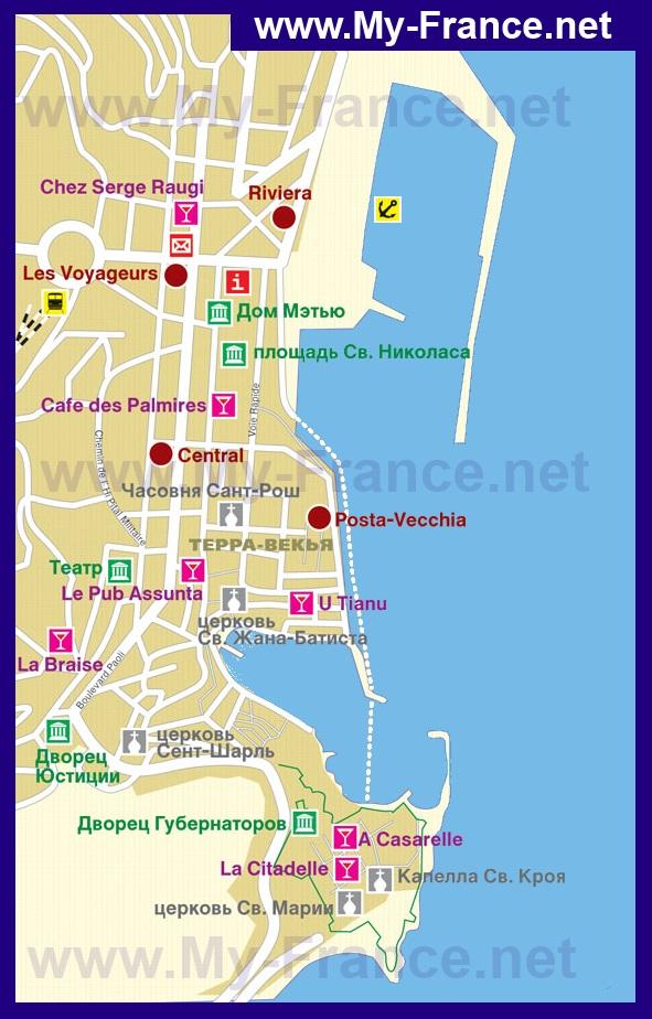 Карта отелей бастии