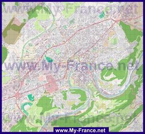 Подробная карта города Безансон