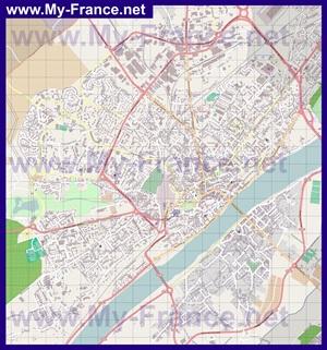 Подробная карта города Блуа