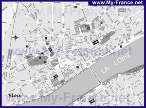 Туристическая карта Блуа с достопримечательностями