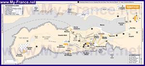 Подробная карта города Бонифачо с достопримечательностями