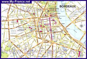 Подробная карта города Бордо