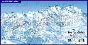 Подробная карта горнолыжного курорта Брид Ле Бен