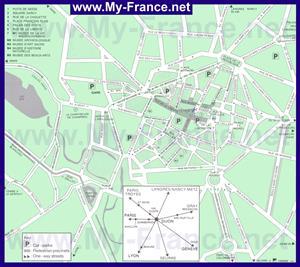 Карта города Дижон