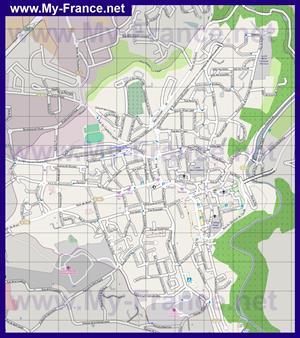 Подробная карта города Динан