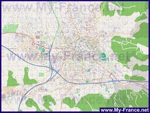 Подробная карта города экс ан прованс