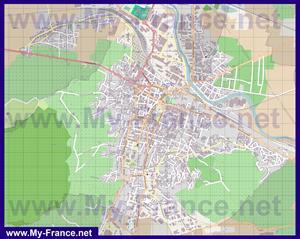 Подробная карта города Эперне