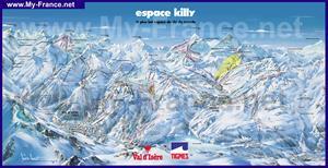 Подробная карта горнолыжного курорта Эспас-Килли