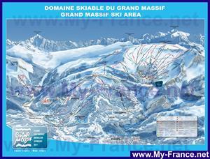 Подробная карта горнолыжного курорта Флэн