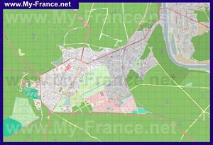 Подробная карта города Фонтенбло