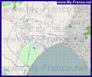 Подробная карта города Фрежюс