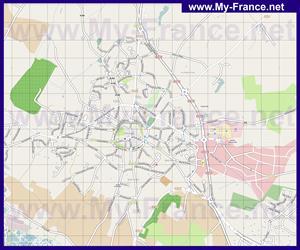 Подробная карта города Геранд