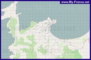 Подробная карта города Кальви