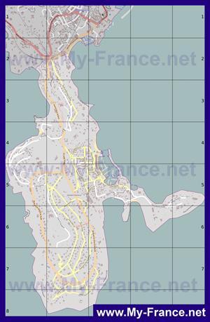 Подробная карта города Кап-Ферра