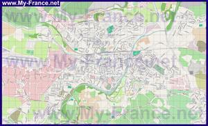 Подробная карта города Каркассон