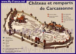 Туристическая карта Каркассонской крепости