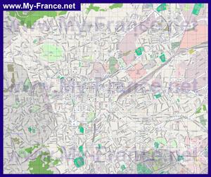 Подробная карта города Клермон-Ферран