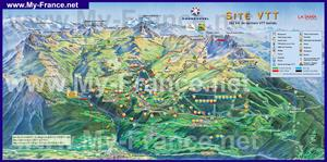 Туристическая карта Куршевеля