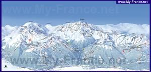 Подробная карта горнолыжного курорта Ла Плань