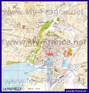 Карта Ла-Рошеля с достопримечательностями