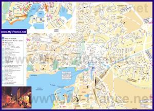 Подробная туристическая карта города Ла-Рошель
