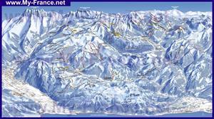 Подробная карта горнолыжного курорта Ле Же