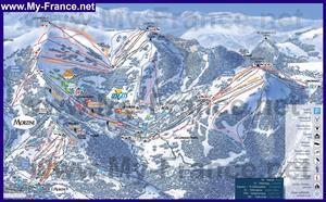 Туристическая карта курорта Ле Же