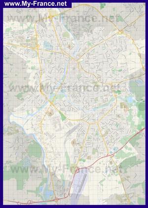 Подробная карта города Ле-Ман
