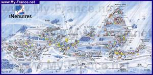 Туристическая карта курорта Ле Менюир