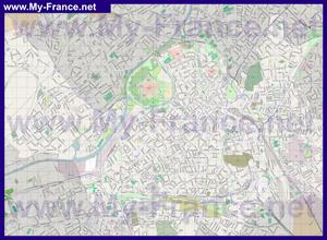 Подробная карта города Лилль