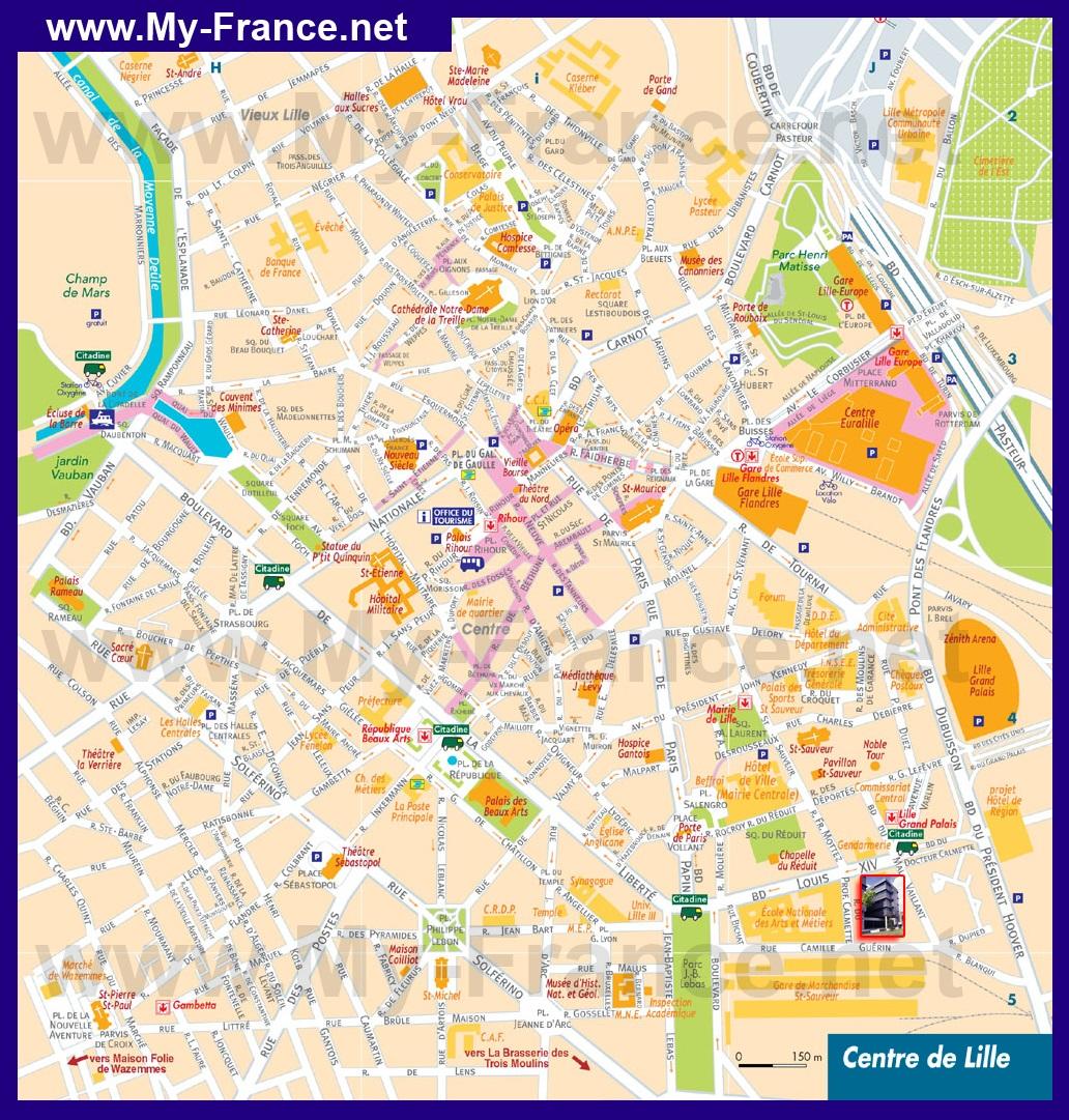 Туристическая карта лилля