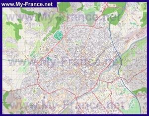 Подробная карта города Лимож