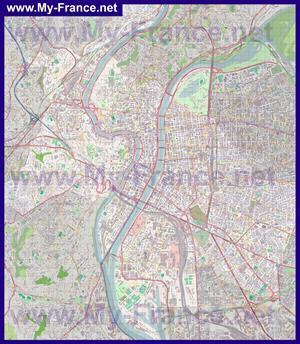 Подробная карта города Лион
