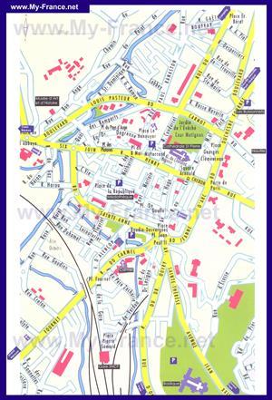 Подробная туристическая карта города Лизье