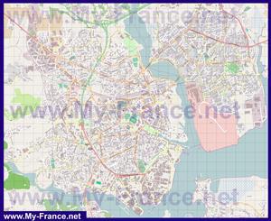 Подробная карта города Лорьян