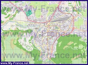Подробная карта города Лурд