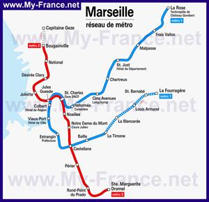 Карта метро Марселя