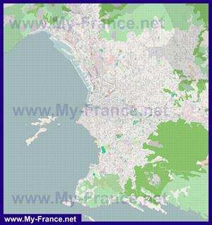 Подробная карта города Марсель