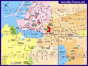 Туристическая карта Марселя