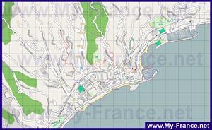 Карта города Ментона