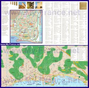 Подробная туристическая карта Ментоны с достопримечательностями