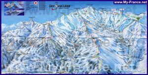 Карта горнолыжных трасс курорта Мерибель