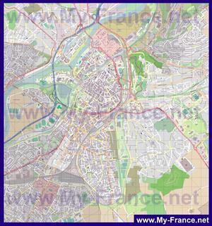 Подробная карта города Мец