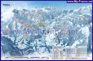 Карта горнолыжных трасс Межева