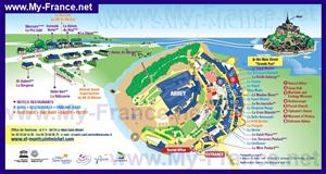 Туристическая карта Мон-Сен-Мишеля с отелями